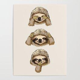 No Evil Sloth Poster