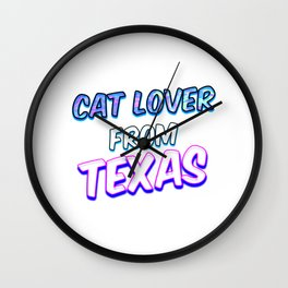 Dog Lover From Texas Wall Clock