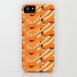 Hot Dogs and Donuts iPhone Case