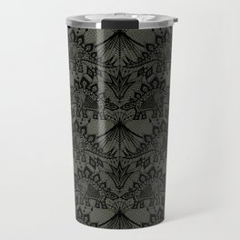 Stegosaurus Lace - Black / Grey Travel Mug