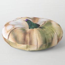 Bird - Photography Paper Effect 006 Floor Pillow