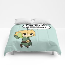 I'm not Zelda! (link from legend of zelda) Comforters
