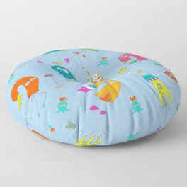 Lanni's Monster World - Blue Floor Pillow