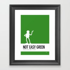 No25 My Minimal Color Code poster Kermit Framed Art Print