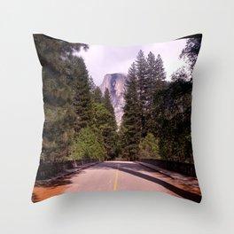 Ahwahnee Bridge, Yosemite Village Throw Pillow