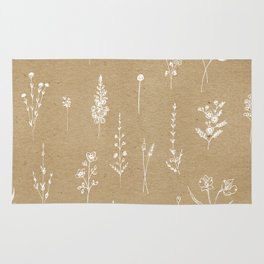 Wildflowers kraft Rug