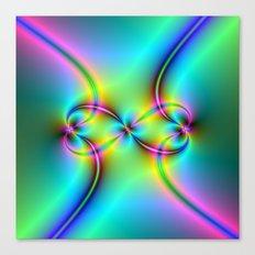Neon Love Knots Canvas Print