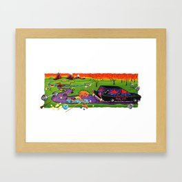 dieathalon Framed Art Print