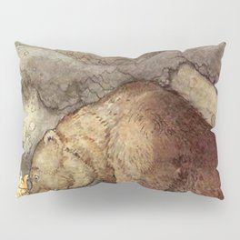John Bauer Kissed the Bear On The Nose 1907 Reproduction Young Princess Bear Fairy Tale Pillow Sham