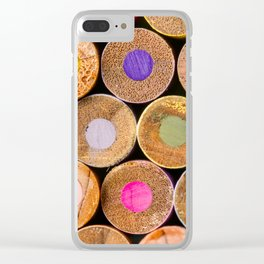COLORED PENCILS 3 Clear iPhone Case