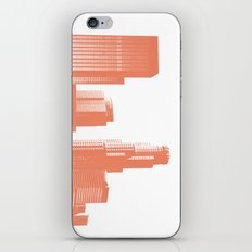 downtown Los Angeles skyline print, coral iPhone & iPod Skin