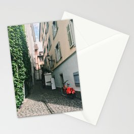 Cheerful Alleyway in Lucerne Stationery Cards