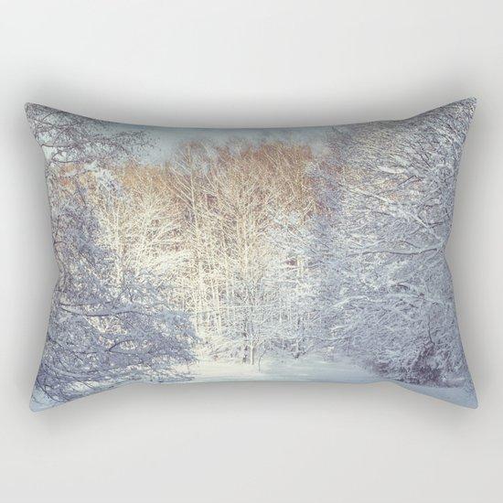 White Blanket Rectangular Pillow