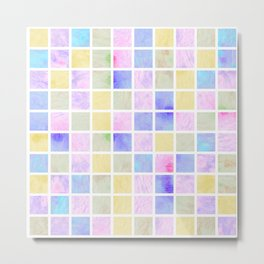 Watercolor Tiles #2 Metal Print
