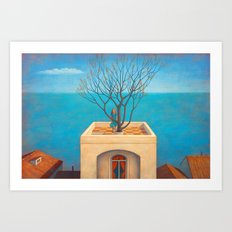 Home by the sea Art Print