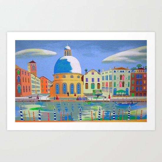 Ordinary Day In Venice Art Print