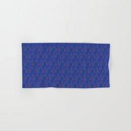 Mardi Gra Lace Rainbow on Reflex Blue Hand & Bath Towel