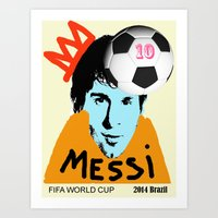messi Art Prints featuring Messi by peopleilove