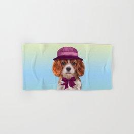 Drawing dog breed Cavalier King Charles Spaniel Hand & Bath Towel