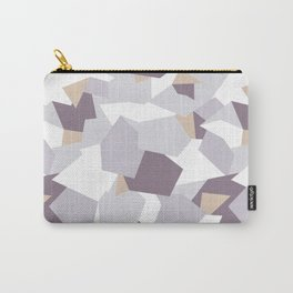 Violet abstract forms Carry-All Pouch