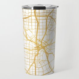 DALLAS TEXAS CITY STREET MAP ART Travel Mug