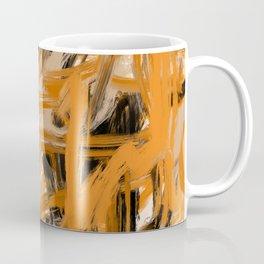 Orange & Taupe Abstract Coffee Mug