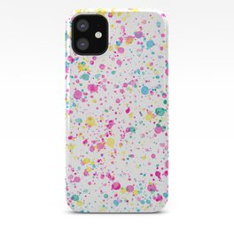 Spring Happy - Bright Color Paint Splatter iPhone Case