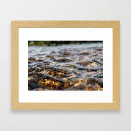 River Pebbles and Currents Framed Art Print
