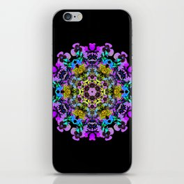 Spring wildflower mandala 2 iPhone Skin