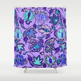 Protea Batik Hawaiian Tropical Floral Shower Curtain