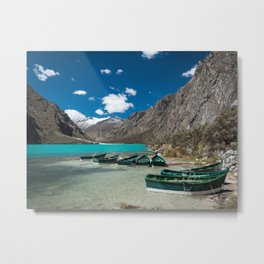 Boats in Chinancocha Lake, Peru Metal Print
