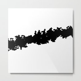 Black and White Line Minimalism Art no.2 Metal Print