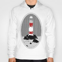 lighthouse Hoodies featuring Lighthouse by Aidan Meighan