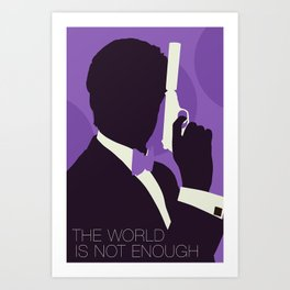Minimalist Bond: The World is Not Enough Art Print