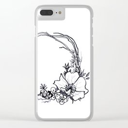 Inktober wild roses Clear iPhone Case