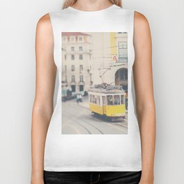 city trams ...  Biker Tank