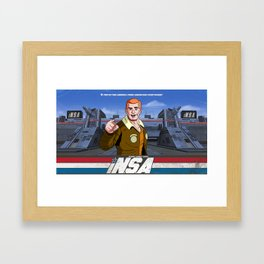iN.S.A - iNternet Security Agency Framed Art Print
