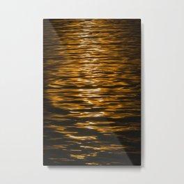 Sunset Ripples (Lake Balaton) Metal Print
