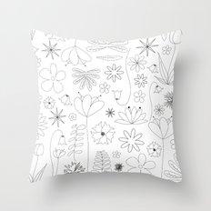 Miscellaneous flowers Throw Pillow