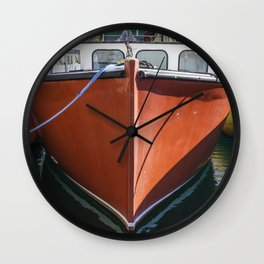 Red Lobstering boat Wall Clock