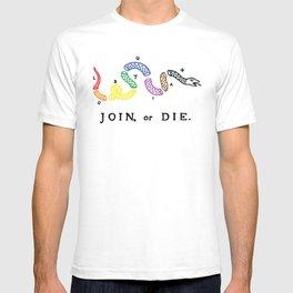 Join, or Die Pride T-shirt