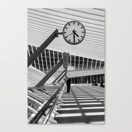 Train  Station Luik - Guillemins Belgium Canvas Print