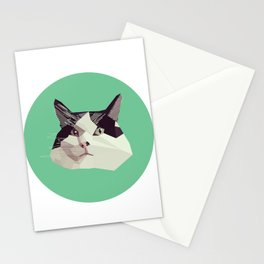 Cat Morpheus Polygonal Graphic Design Stationery Cards