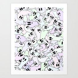 pastel ghosts Art Print