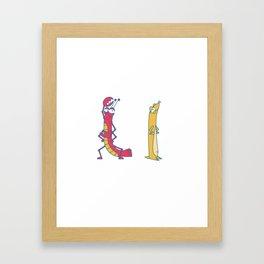 L Uppercase/Lowercase Pair, no border Framed Art Print