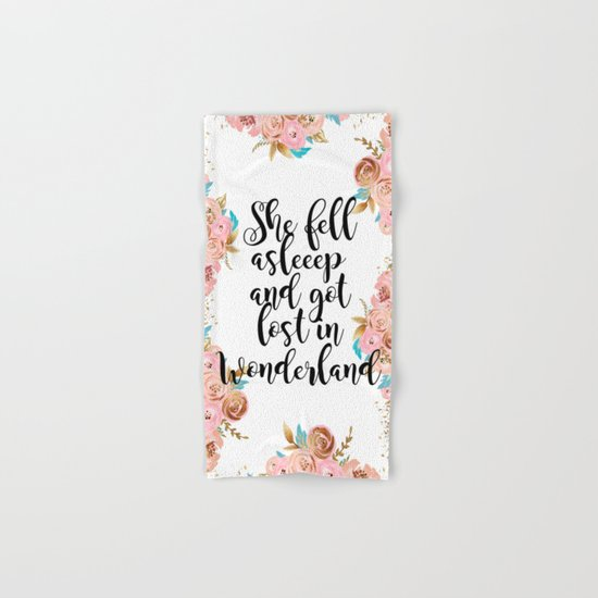 Lost in Wonderland Hand & Bath Towel