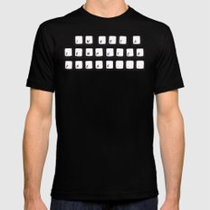 COMPUTER FREAK Black MEDIUM Mens Fitted Tee