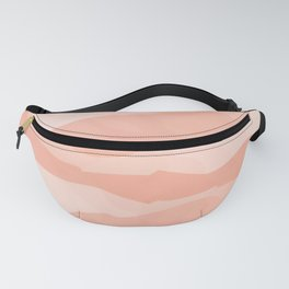 Abstract Watercolor Living Coral Fanny Pack