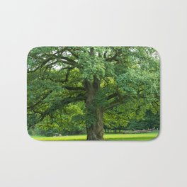 Old green oak Bath Mat