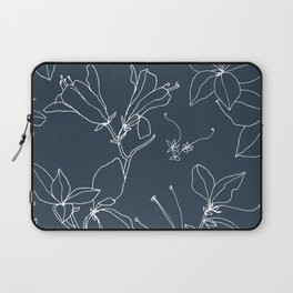 Drawings from Stonecrop Garden, Pattern in Navy Laptop Sleeve